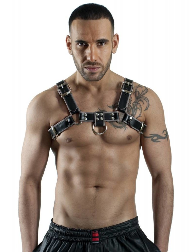 RoB H-Front Harness black with grey piping