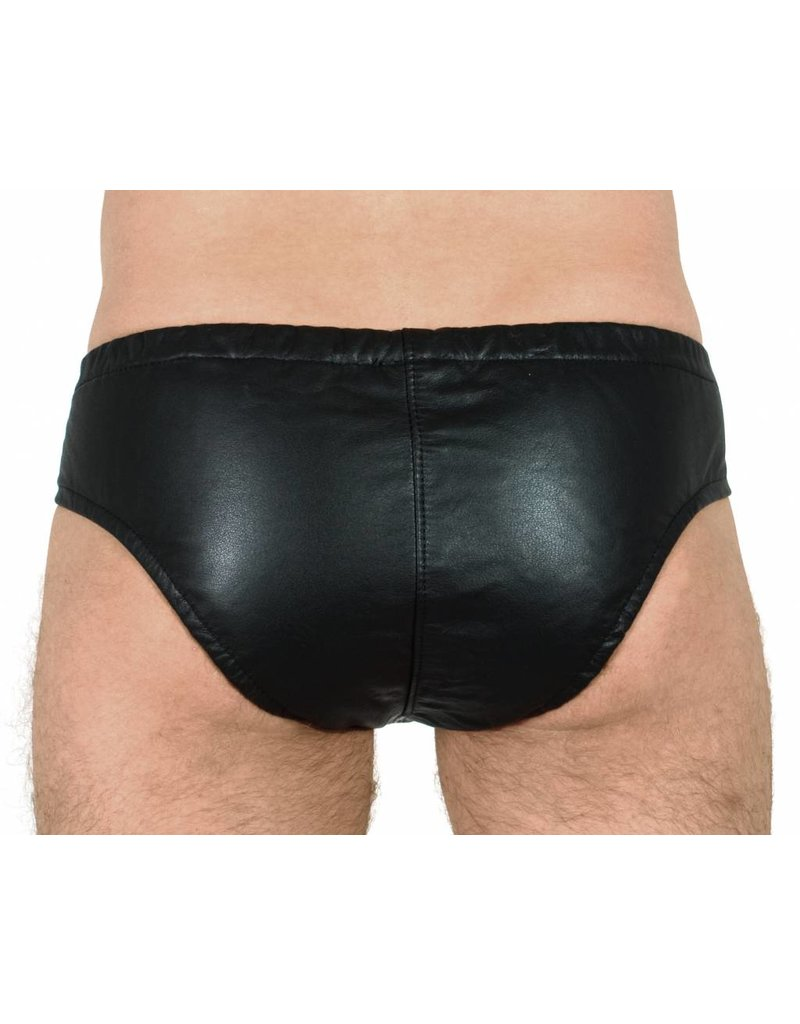 RoB Leather Briefs with Front Zip