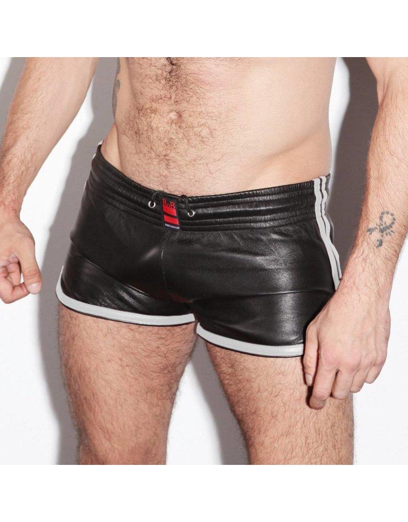 RoB Leder Sport Shorts mit weissen Streifen