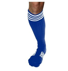 RoB Boot Socks Blue with White Stripes