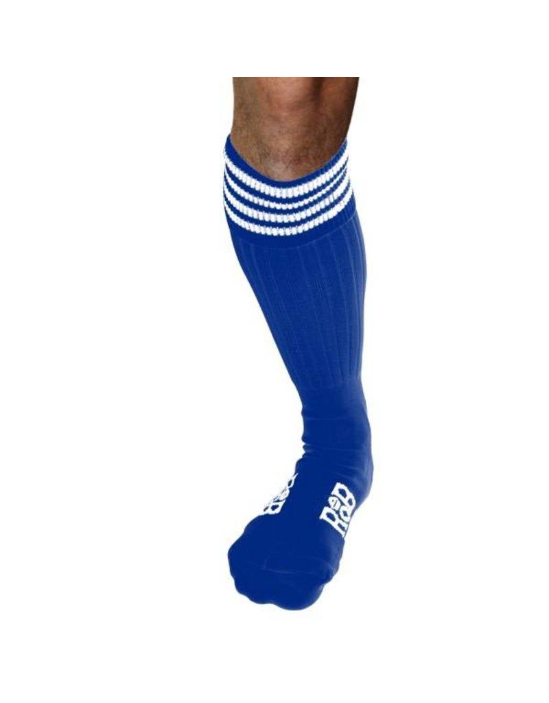 RoB Boot Socks blauw met witte strepen
