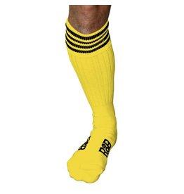 RoB Boot Socks geel met zwarte strepen