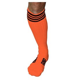 RoB Boot Socks Orange with Black Stripes