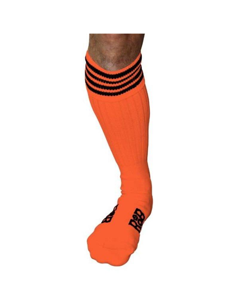 RoB Boot Socks oranje met zwarte strepen