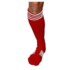 RoB Boot Socks Red with White Stripes