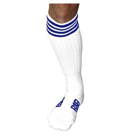 RoB Boot Socks White with Blue Stripes