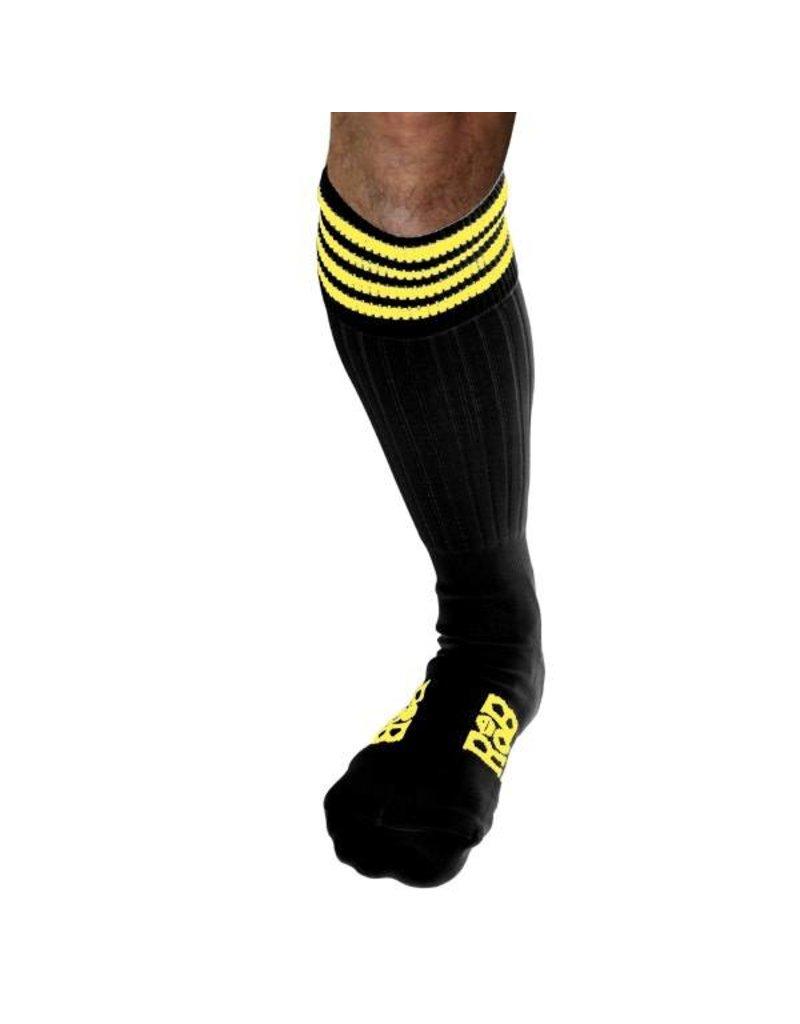 RoB Boot Socks Black with Yellow Stripes