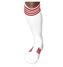 RoB Boot Socks White with Red Stripes