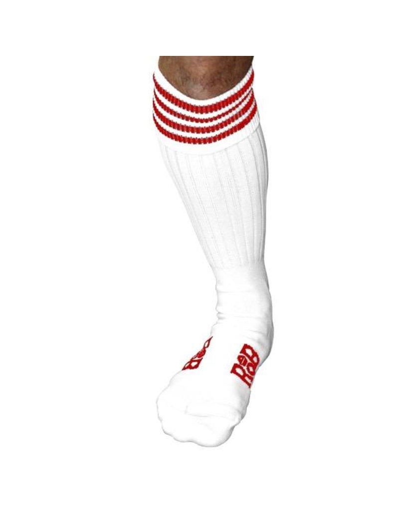 RoB Boot Socks Weiss mit Rot