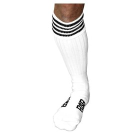 RoB Boot Socks White with Black Stripes