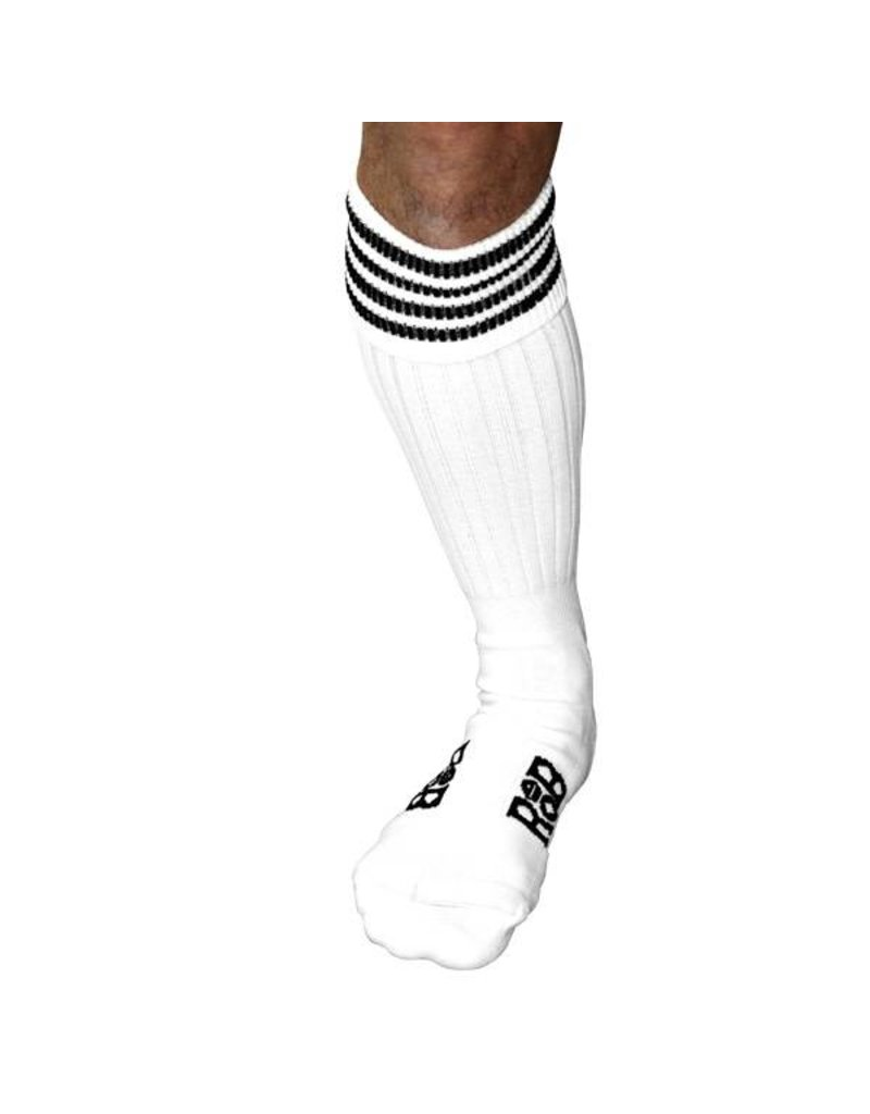 RoB Boot Socks White with Black Stripes