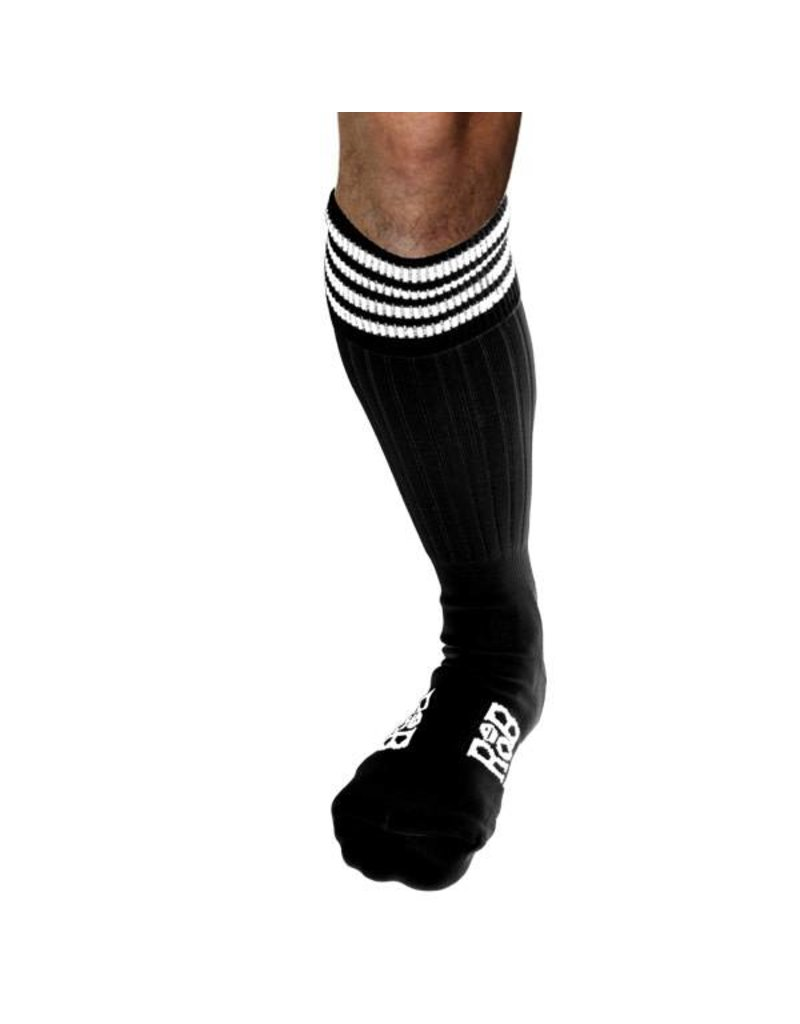 RoB Boot Socks Black with White Stripes
