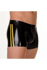 RoB Rubber Full Zip Shorts with double Yellow Stripes