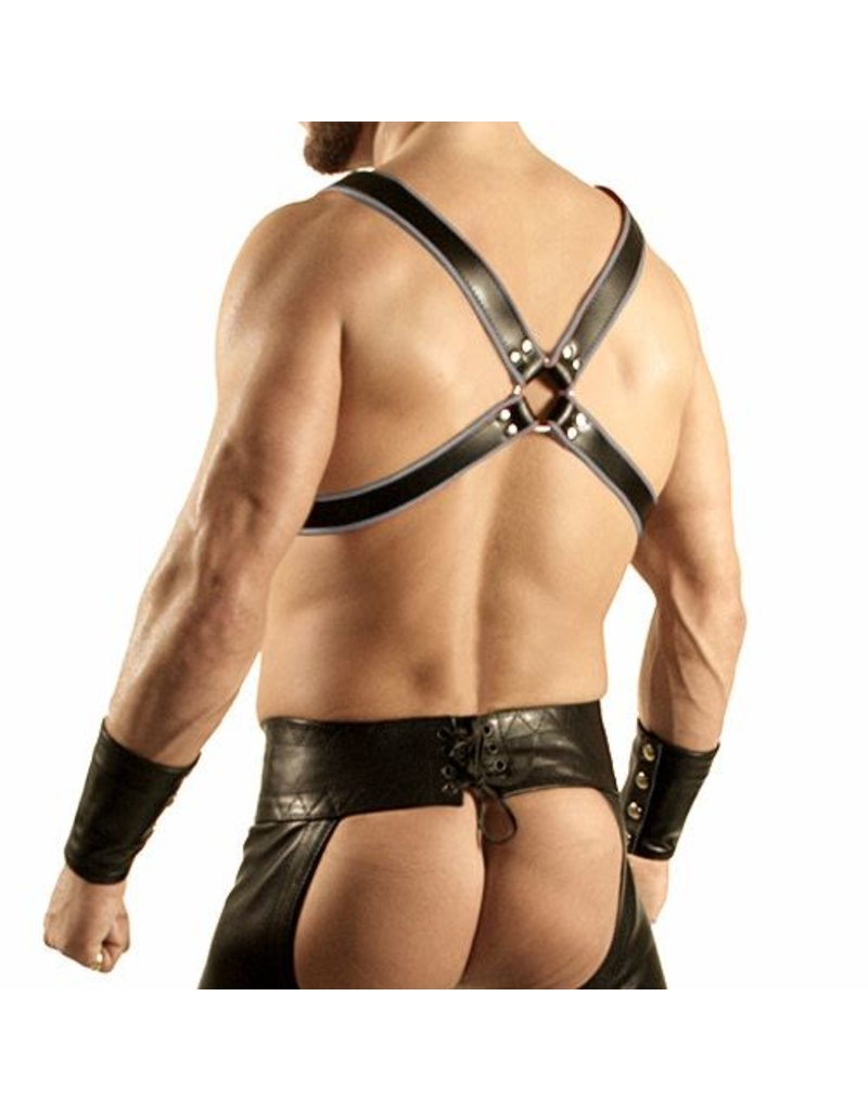 RoB Y-Front Harness black with grey piping