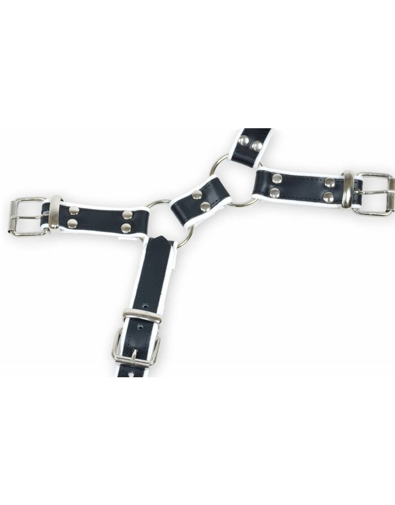 RoB Y-Front Harness black and white piping