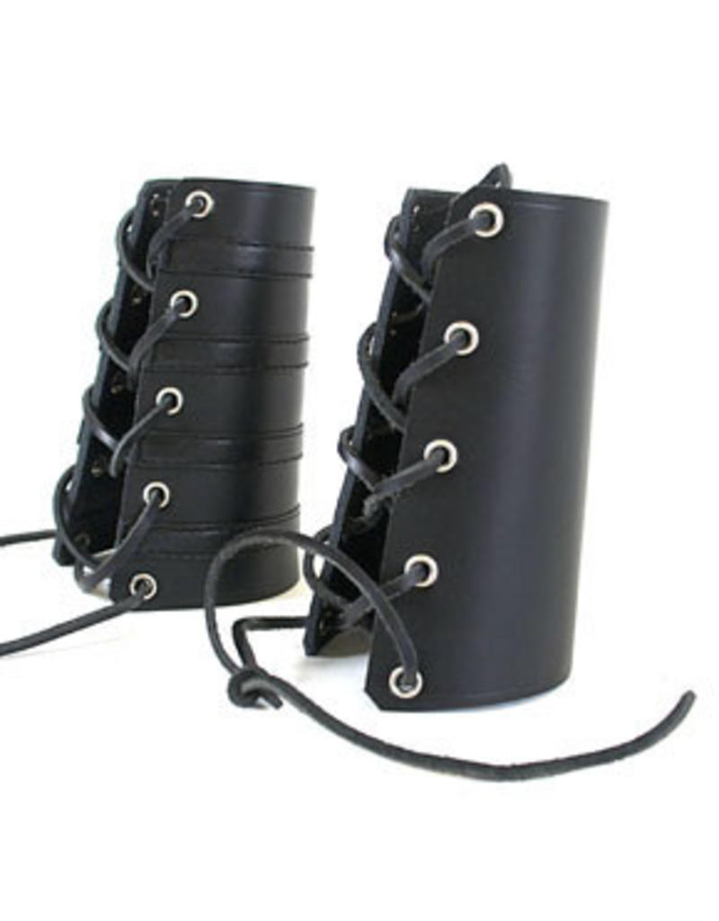 RoB Leather Lace Up Gauntlet Plain
