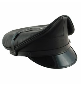 RoB Leather Military Cap, Black Trim