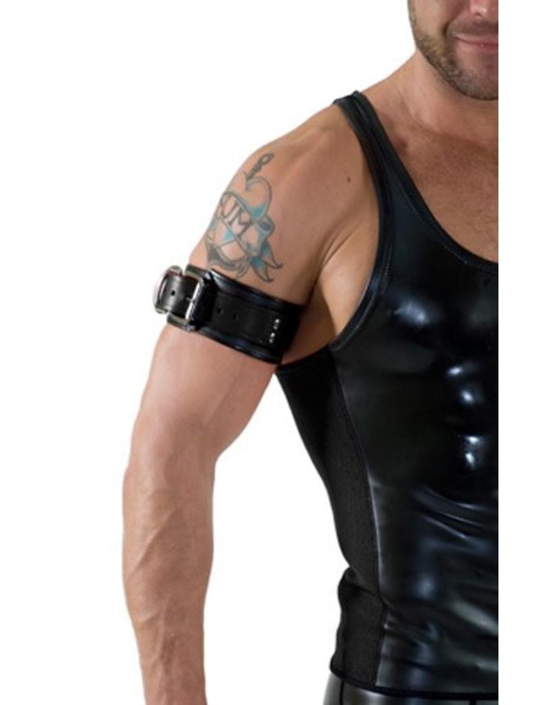 RoB Leather Bicepsband with Buckle, Black