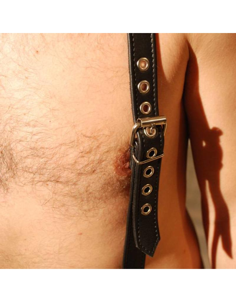 RoB Leren bretels 2,6 cm breed met klip