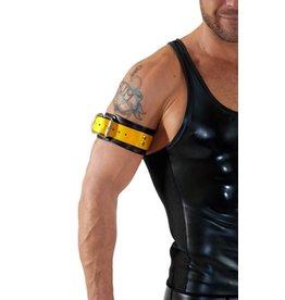 RoB Leder Bicepsband mit Schnalle, Gelb