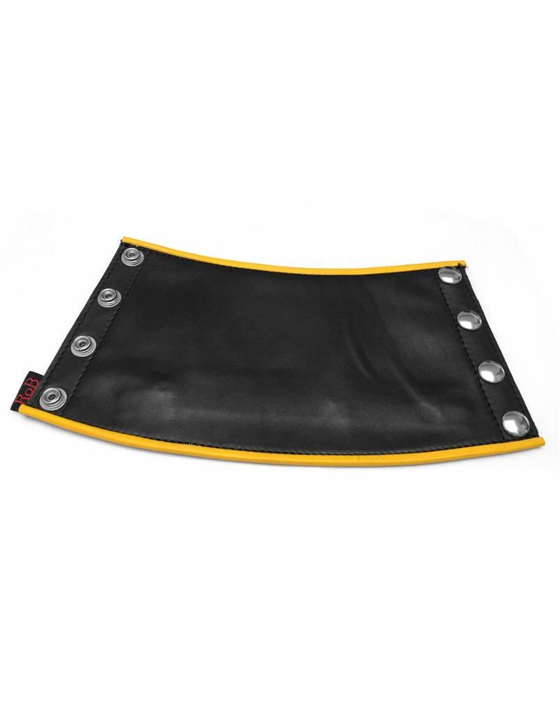 RoB Leder Gauntlet Geldbörse schwarz mit gelbem Rand