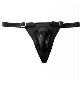 RoB Leather Lockable Solid Chastity Belt