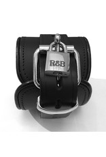RoB Leather lockable ankle restraints black