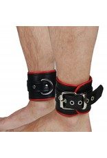 RoB Leather Ankle Restraints Red Piping