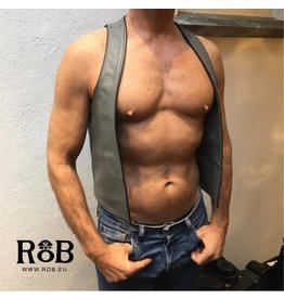 RoB Bartender Weste Grau mit schwarzem Rand