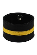 RoB Leather Wristband Yellow Stripe