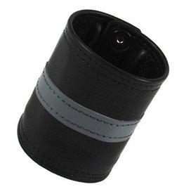 RoB Leather Wrist Wallet Grey Stripe