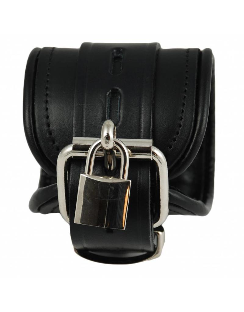 RoB Leather Wrist Restraints Black, Lockable