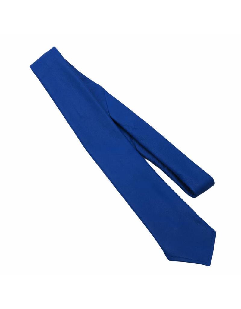 RoB Leren stropdas blauw