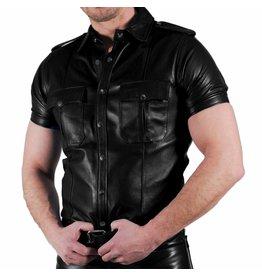 RoB Polizei Lederhemd schwarz