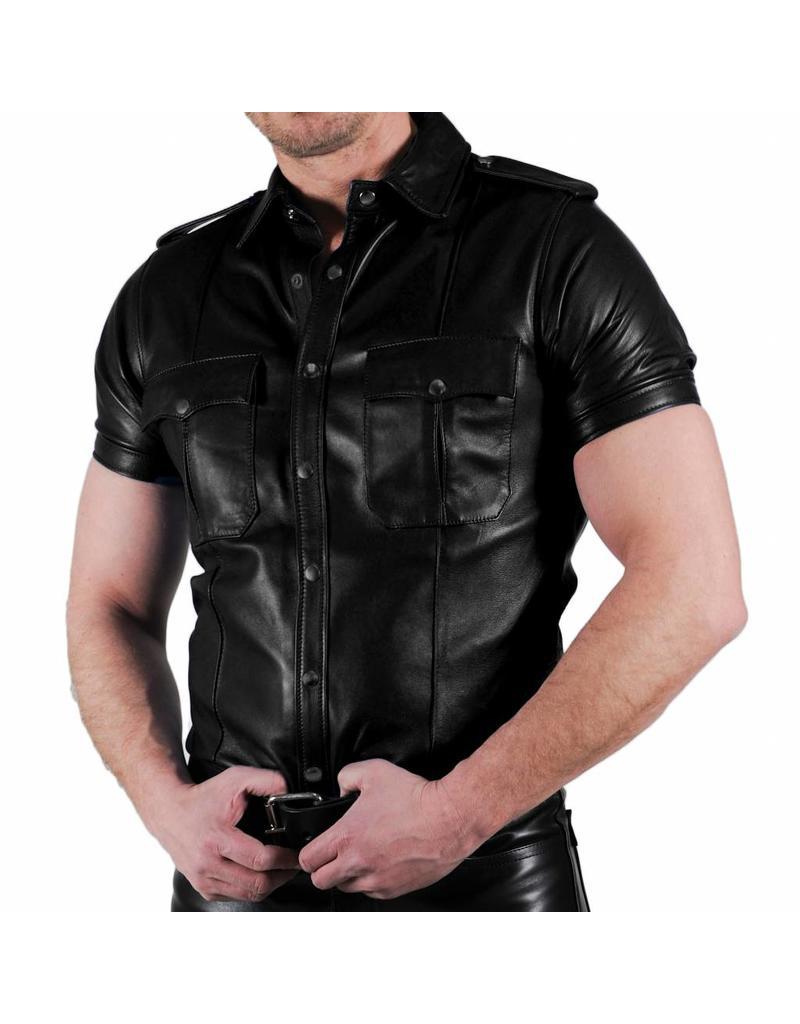 RoB Schwarzes, weiches Lederhemd