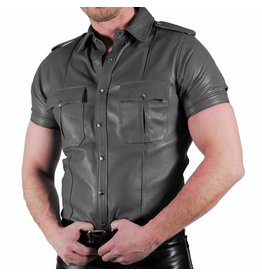 RoB Grey Leather Police Shirt