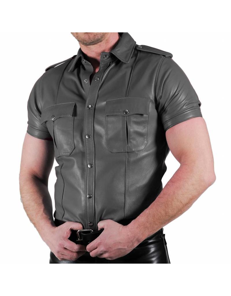 RoB Polizei Lederhemd grau
