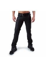 Full Zip Jeans met 2 gele strepen