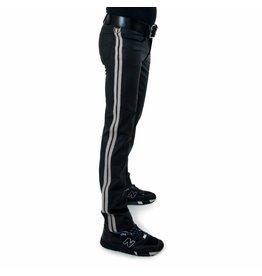 Full Zip Jeans met 2 witte strepen