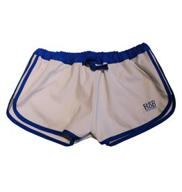 F-Wear Sport Shorts white with blue stripes