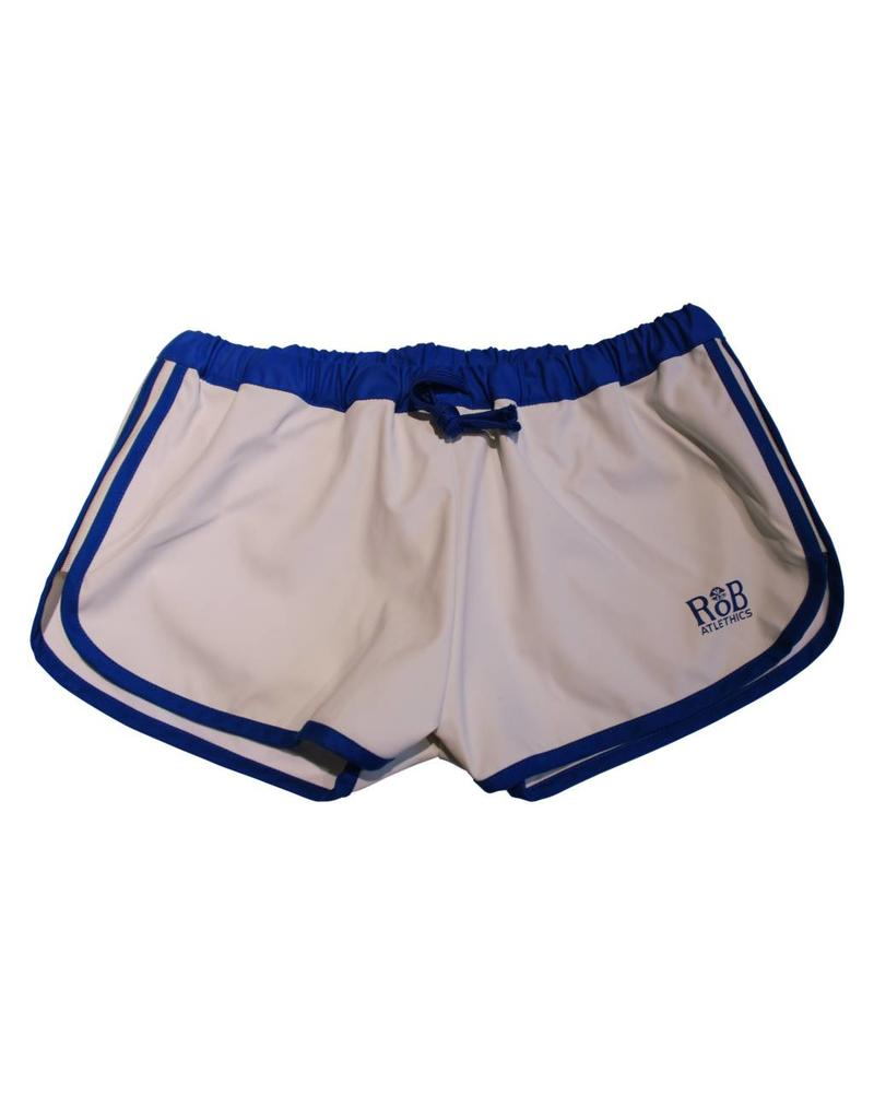 Sport Shorts white with blue stripes