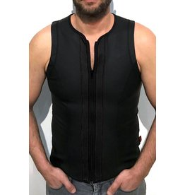 Vest met rits zwart