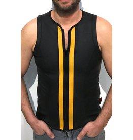 Vest met rits zwart met gele strepen