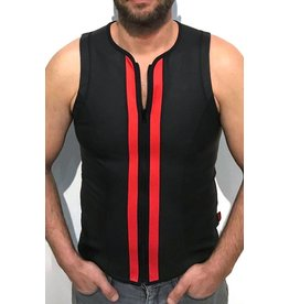 F-Wear Vest with zip black with red panels