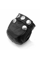 RoB Leather Cock & Ball Bag with Dull Pins