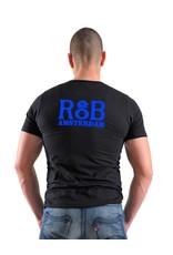RoB T-shirt zwart met blauw
