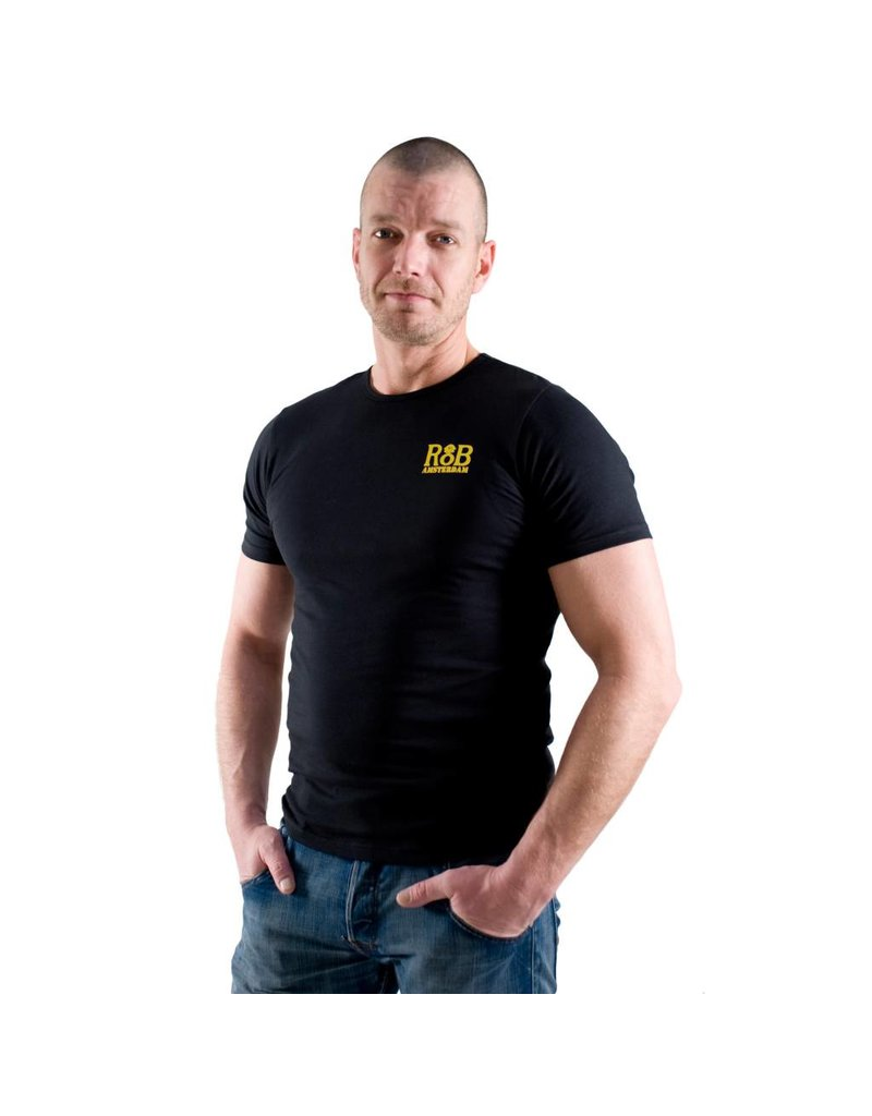 RoB T-Shirt zwart met geel