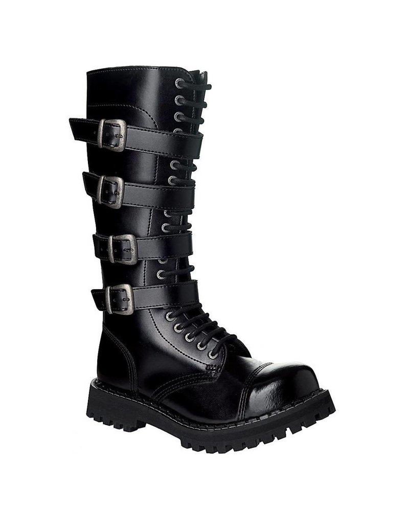 Steel Boots Boots 20 holes, 4 buckles