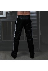 RoB Soft Leather Trackpants with White Stripes