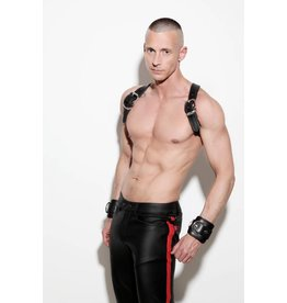 Jeans, slim fit, blind pockets met rode streep